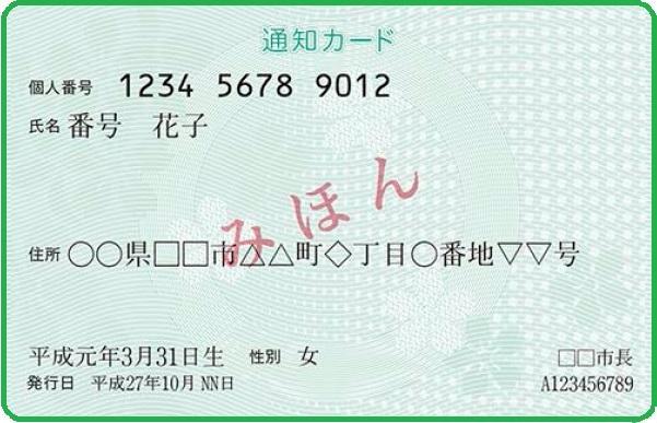 通知カード